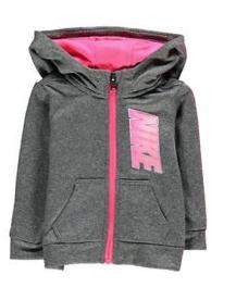 nike infant girls full zip tracksuit children baby hooded jogging suit grey pink
